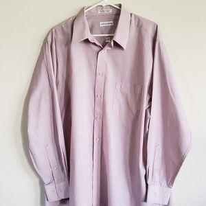Pierre Cardin Classic Fit Cobalt Mauve Shirt